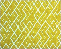 yellow/white kibak tile- We love this funky, modern design. Could be used for kitchens and bathrooms both. Tile Patterns, Textures Patterns, Fabric Patterns, Print Patterns, Jim Thompson Fabric, Centre, Fireclay Tile, Yellow Fabric, Fabulous Fabrics