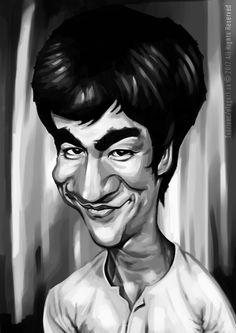 Bruce Lee- caricature