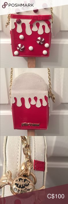 Betsey Johnson BN Christmas peppermint top Purse Beautiful sparkly great for a night out an amazing conversation starter Betsey Johnson Bags Crossbody Bags Betsey Johnson Bags, Plus Fashion, Fashion Tips, Fashion Trends, Peppermint, Crossbody Bags, Conversation, Night Out, Shoulder Bag