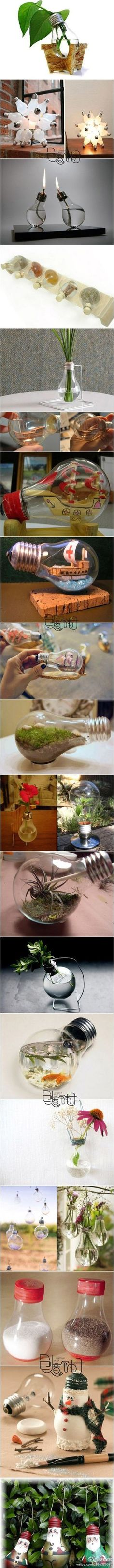 Light bulbs - creative ideas on what to do with them!