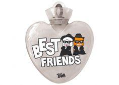 """HELLO SPANK BORSA ACQUA CALDA BEST FRIENDS  Per riscaldare il tuo cuore Borsa dell'acqua calda Hello Spank love in plastica di colore bianco trasparente con dedica """"BEST FRIENDS."""""""