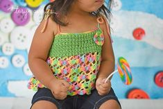 Free Crochet Pattern for summer toddler top by CrochetZone.com