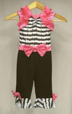 Girls Dance Costume XS Weissman Competition Tap Jazz Pink Black White NEW