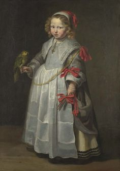 ab. 1640 Netherlandish - Portrait of a Girl with a Parrot