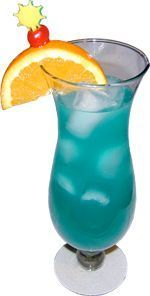 Blue Monkey Recipe         Ingredients	My Bar  1 part Blue Curacao	  1 part Coconut Rum	  1 1/2 parts Orange Juice	  1/2 part Pineapple Juice