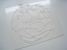No-Carve Clear Stamps using silicone caulk