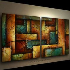 Visit for great deals on a huge selection abstract art original painting michael lang decor. Folk Art Flowers, Art Painting, Painting Canvases, Modern Art Paintings Abstract, Painting, Art, Painting Art Projects, Abstract Geometric Art, Abstract