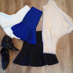 Very J look of the day  style no. 12W0407L-sweater top ; style no. VS50308-skirt  www.veryj.com   #VeryJ #FW14