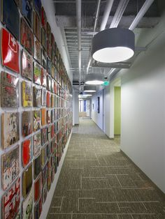 It would be cool if we could have a wall of photos -- maybe Instagram photos from around the office?! Recology Corporate Offices