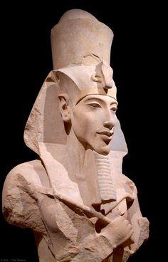 Eighteenth dynasty ancient Egyptian Pharaoh, Akhenaten. Reigned 1353–1336BC.