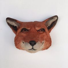 Fox Art Fox Head Animal Head Animal Art by OlanderEarthworks