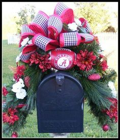 Alabama mailbox swag. This for you @Gwynn Smith
