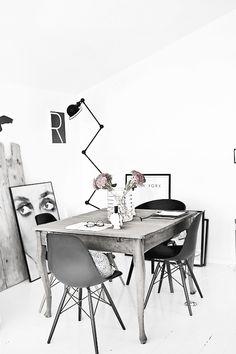 Eames en escritorio estilo vintage