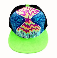 Watching the Melt - Pschedelic Trippy Hand Painted Hat - Manik Apparel Snapback