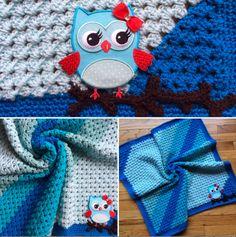 Blue Granny Corner 2 Corner Crochet Blanket by sheilalikestoknit