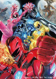 One-Punch Man Manga Artist Illustrates Power Rangers Movie Visual in Japan - The Tokusatsu Network Power Rangers 2017, Power Rangers Fan Art, Power Rangers Movie, Power Ragers, Angel Protector, One Punch Man Manga, Green Ranger, 5 Anime, Mighty Morphin Power Rangers