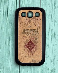Harry Potter Inspired Old Marauders Map Samsung Galaxy S3 Case