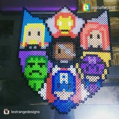 Avengers shield perler beads by Fuse Beads, Pearler Beads, Iron Man, Deadpool, Marvel Cross Stitch, Avengers Shield, Perler Patterns, Bead Art, Beading Patterns