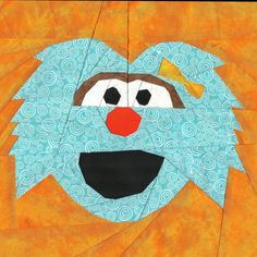 Rosita, a free Sesame Street paper pieced pattern from Michelle Thompson and Fandom In Stitches!
