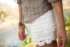 Pantalones Cortos de Crochet para la Primavera