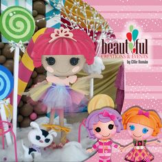 Lalaloopsy doll and pet made with foam. If you would like to see more check out our fan page: www.facebook.com/beautifulcreationsandevents