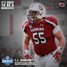 Congratulations to T.J. Johnson! Drafted in the 7th round by the Cincinnati Bengals! #NFLDraft #Gamecocks