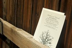 Sittin in a Tree Save the Date Card with Two Love Birds  by mavora, $10.00
