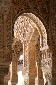 Alhambra, Granada, Spain - Hubby worked in Spain. I got to see a lot of Spain, including this Alhambra. Islamic Architecture, Beautiful Architecture, Beautiful Buildings, Art And Architecture, Beautiful Places, Places Around The World, Around The Worlds, Places To Travel, Places To Go