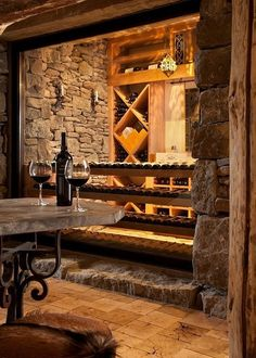 Want a rock-walled wine cellar (even if it's a small one in the garage like what Opa has). Definitely happening.