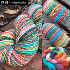 THUNK. How about this stunner of a skein spun by Shelley?! @shelleymorales Thanks for showing us how its done! #Repost @shelleymorales #spinningmontage from beginning to end. #threewatersfarm in Dancing with Marielle. #handspungoodies #handspun #handspunyarn #spinningismyzen #handspunwool #threewatersfarmfiber