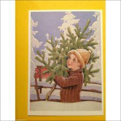 Rudolf Koivu Country Christmas, Christmas And New Year, Christmas Tree, Vintage Christmas Cards, Vintage Cards, Christen, Scandinavian Christmas, Dear Santa, Illustrators