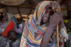 Despair: A new arrival at the #refugee camp seeks help
