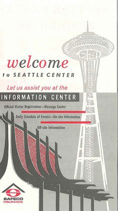 World's Fair information center pamphlet, 1962 by Seattle Municipal Archives, via Flickr