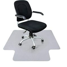 Office Chair Mat Heavy Duty Carpet Floor Protector Under Computer Desk  Sturdy Studded Clear Polycarbonate Plastic