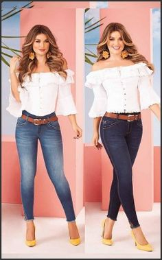 Blouse white and Jean Autumn Fashion Women Fall Outfits, Casual Winter Outfits, Cool Outfits, Trouser Outfits, Denim Outfit, Mode Rockabilly, Lace Jeans, Latest African Fashion Dresses, Blouse Styles