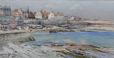 Buy Thomas Swift Hutton Cullercoats and other Victorian paintings and watercolours at James Alder Fine Art North Shields, Victorian Paintings, Winslow Homer, North East England, Fishing Villages, Source Of Inspiration, Home And Away, Newcastle, East Coast