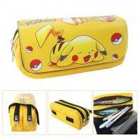 PU Pokemon Pikachu Action Figures Large Pencil Case for Kids
