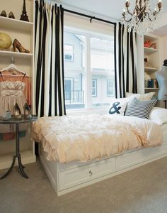 Female young adult bedroom ideas how to decorate a young for Curtains for young adults
