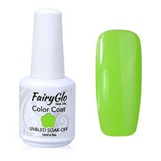 FairyGlo Long Kept Gelpolish Soak Off Gel Nail Polish UV LED Nail Art Manicure Lacquer Decor Kit 15ml Lime Green 1554 ** Continue to the product at the image link.