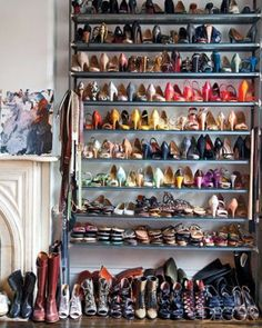 It's no surprise that J.Crew creative director Jenna Lyons counts her wall of shoes among her favorite things. Lyons converted a bedroom in her Brooklyn, New York, townhouse into a closet and shrine for her footwear.
