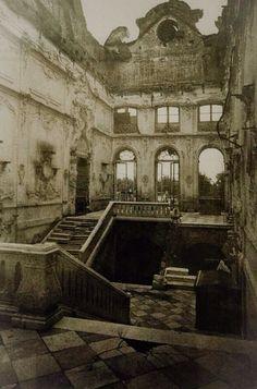 Ruins of Russia's Catherine Palace following World War II.