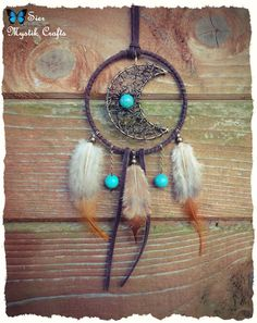 Decrescent Vintage Boho Hippie  Wire Wrapped Moon by SierDreamS, $52.00