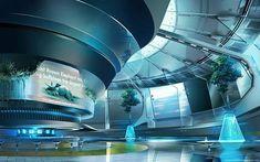 sci fi lounge, James Strehle on ArtStation at… Spaceship Interior, Futuristic Interior, Futuristic City, Futuristic Technology, Futuristic Design, Futuristic Architecture, Parametric Architecture, Drawing Architecture, Minimalist Architecture
