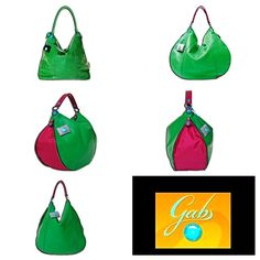 Vehreän vihreän värin ystävälle sopii esimerkiksi TN G-sarjan käsilaukku (vasen yläkulma) tai pirteään pinkkiin yhdistyvä monipuolinen Ibisco-laukku.