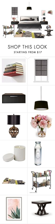 """The Read-Room"" by rachna-priyanka on Polyvore featuring interior, interiors, interior design, home, home decor, interior decorating, Umbra, Modloft, Santa & Cole and Safavieh"