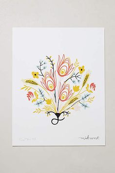 Botanical Print - anthropologie.com #anthrofave #anthropologie