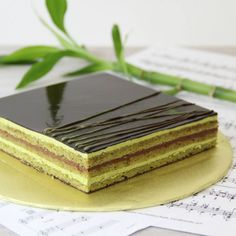 ** Green Tea Opera cake