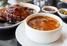 Pálivá kyslá čínska polievka Tofu, Chili, Food And Drink, Beef, Ethnic Recipes, Health, Meat, Chile, Health Care