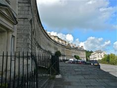 Camden Crescent, where Sir Walter Elliot rented lodgings in Persuasion.