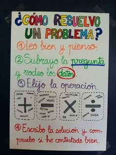 Spanish Anchor Charts, Anchor Charts First Grade, Math Charts, Math Anchor Charts, Dual Language Classroom, Spanish Classroom, Math Poster, Primary Maths, Bilingual Education